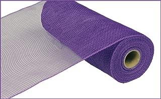 10 Inch x 30 Feet Deco Poly Mesh Ribbon - Purple Non Metallic : RE130223