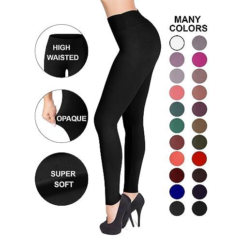 3827d28a7e19d SATINA High Waisted Leggings - 25 Colors - Super Soft Full Length Opaque  Slim