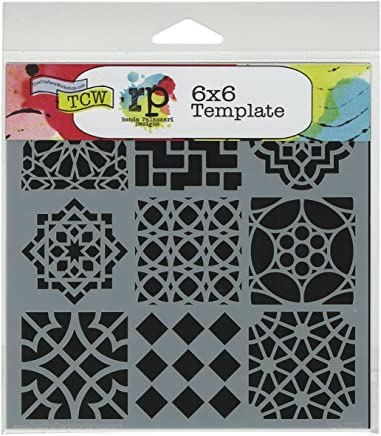 Stones Divided 6 by 6-Inch CRAFTERS WORKSHOP Template