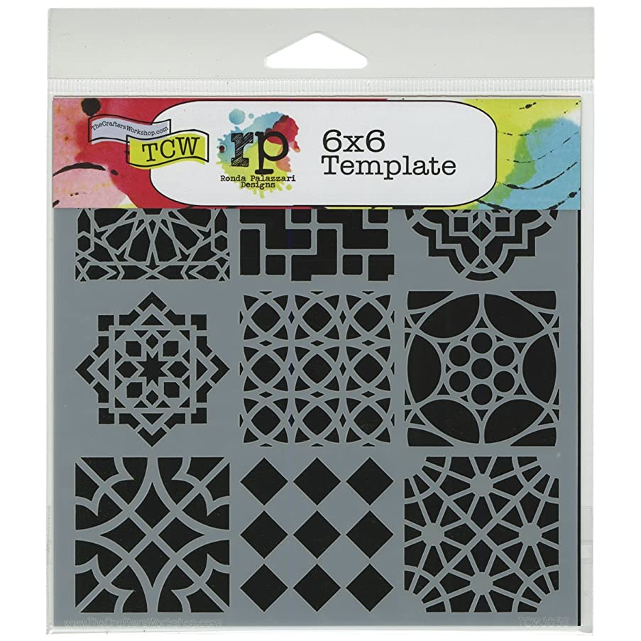 Crafters Workshop Template, 6 by 6-Inch, Moroccan Tile