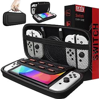 Orzly draagtas compatibel met Nintendo Switch en nieuwe Switch OLED console - zwart Beschermende harde draagbare reisdraag...