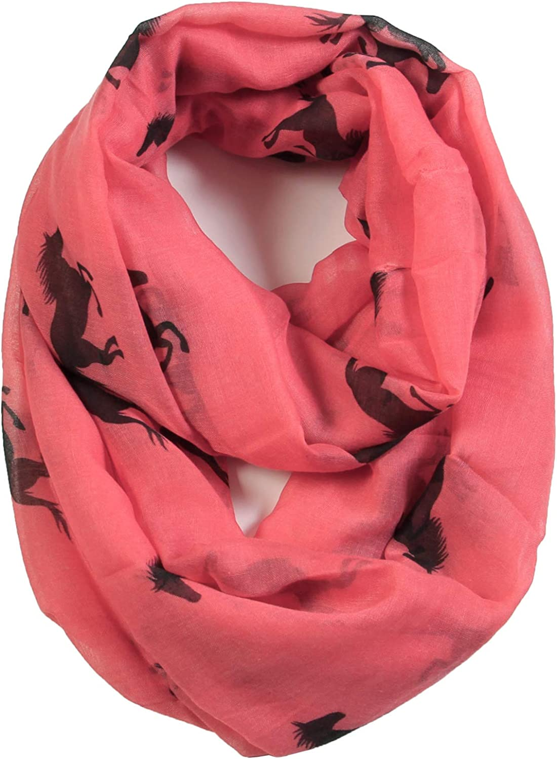 Scarfand Silhouette Animal Icon Print Lightweight Infinity Loop Scarf