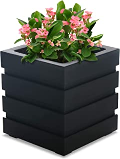 Mayne Inc Freeport Patio Planter, 18 by 18-Inch, Black