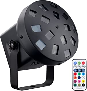 DragonX LED Tri Color Mushroom Stage Effect DJ Professional Strobe Light (کنترل از راه دور IR شامل) برای مهمانی های خانگی دیسکو کلاب و روشنایی KTV