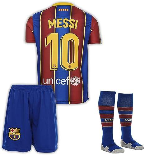 AMD SPORTS Barcelona 2020-21 Home Maillots de Football Griezmann pour Enfants avec des Chaussettes Et des Shorts,(Tai...