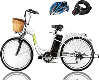 """NAKTO 26"""" 250W Cargo Electric Bicycle Sporting Shimano 6 Speed Gear EBike Brushless.."""