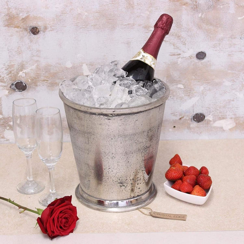 comprar nuevo barato Cubo de champán MIRA Apenado Pesado Enfriador de Vino Vino Vino Cubo de hielo PLATA  ordene ahora los precios más bajos