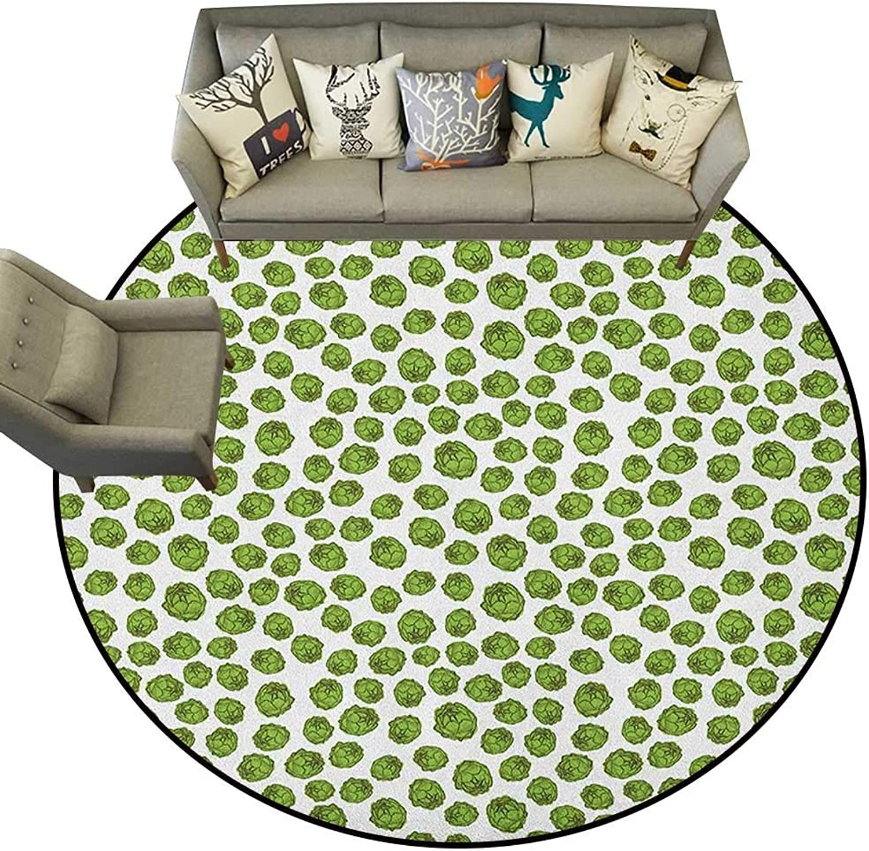 Green and White,Personalized Floor mats Fresh Healthy Food Theme Graphic Artichoke Pattern Vegetarian Diet D60 Floor Mat Entrance Doormat