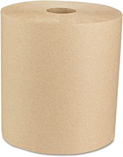 Boardwalk 6256 Hardwound Paper Towels, Nonperforated 1-Ply Natural, 800ft, 6 Rolls/carton