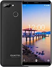 "Unlocked Cell Phones,OUKITEL C11S Android 8.1 Dual SIM 4G LTE Unlocked Smartphone, 3GB RAM + 16GB ROM 5.5"" HD+ 18:9 Display Mobile Phone, 8MP + 3MP Camera-Black"
