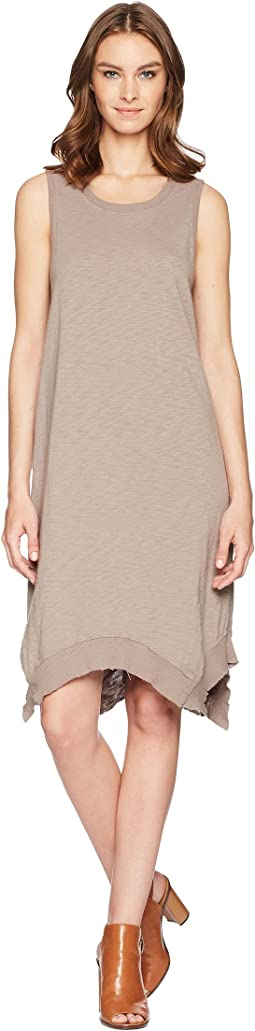 Luxe Cotton Slub Hanky Hem Dress