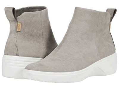 ECCO Soft 7 Wedge City Boot (Warm Grey Cow Nubuck) Women