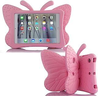 Nara iPad Mini 4 3 2 3D Cute Butterfly Case for Kids Light Weight EVA Stand Shockproof Rugged Heavy Duty Kids Friendly Tab...