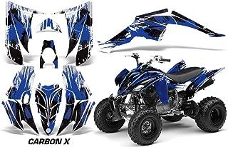 Yamaha Raptor 350 2004-2014 ATV All Terrain Vehicle AMR Racing Graphic Kit Decal CARBON X BLUE