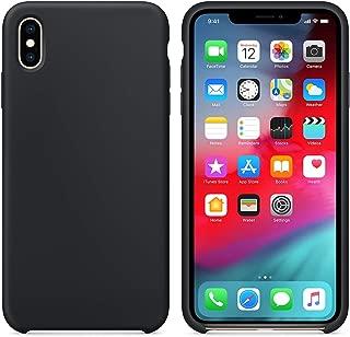 Microsonic 21715 Apple iPhone XS Kılıf Liquid Lansman Silikon Siyah