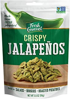 Fresh Gourmet Crispy Jalapenos, Lightly Salted, 3.5 Oz (Pack Of 6)