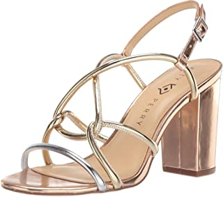 Katy Perry Women's The Kendra-Mirror Heeled Sandal silver/rose gold 8 Medium US