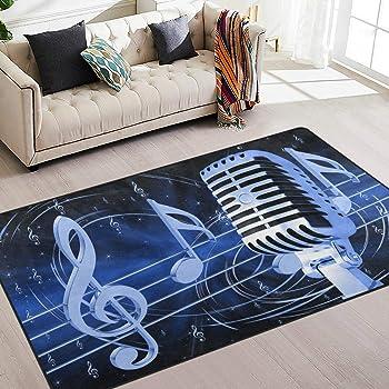 3D Music Musical Notes ZHUA237 Game Non Slip Rug Mat Photo Carpet Amy
