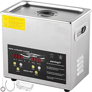 VEVOR 6L Upgraded Ultrasonic Cleaner Professional Digital Lab Ultrasonic Parts Cleaner with Heater Timer for Jewelry Glass...