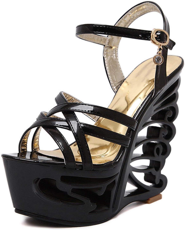 Heel High Heel Womens Buckle Strap Sexy Sandals Women shoes T-car Show Dance Sandalss 41