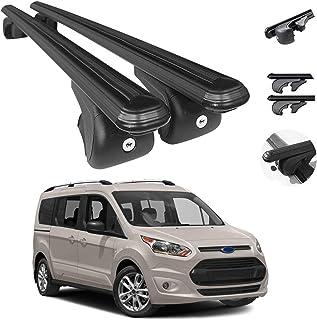 OMAC Barras transversais para bagagens de teto | Barras transversais ajustáveis de alumínio para o telhado para Ford Trans...