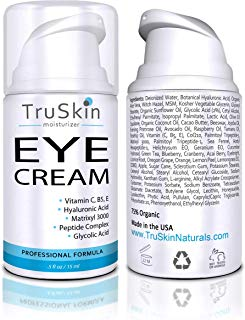 TruSkin Eye Cream, Anti-Aging Formulation Hydrates, Protects & Revitalizes Delicate Skin Around Eyes. 15ml