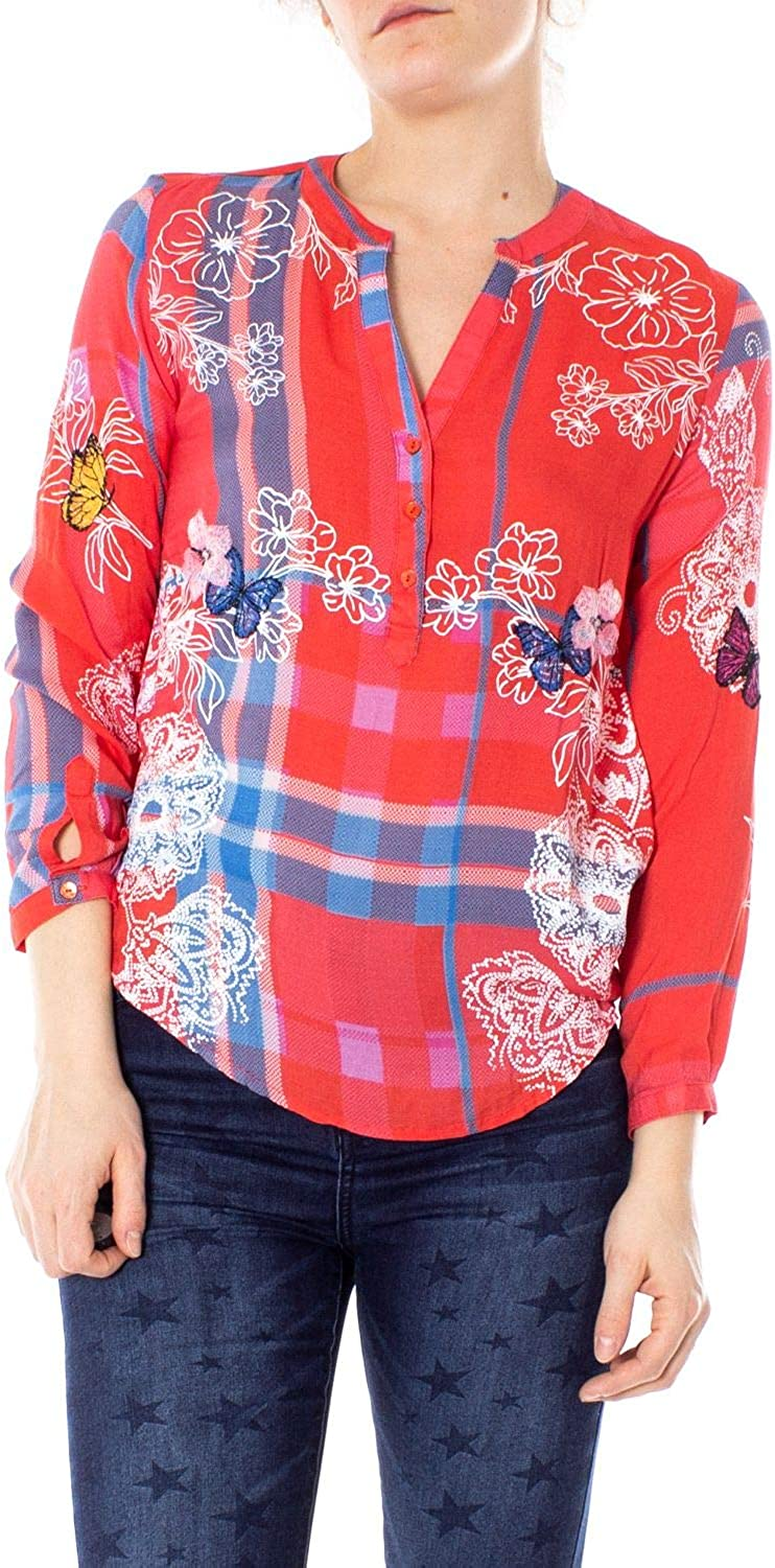 Desigual Women's 19SWBW73RED Red Viscose Blouse