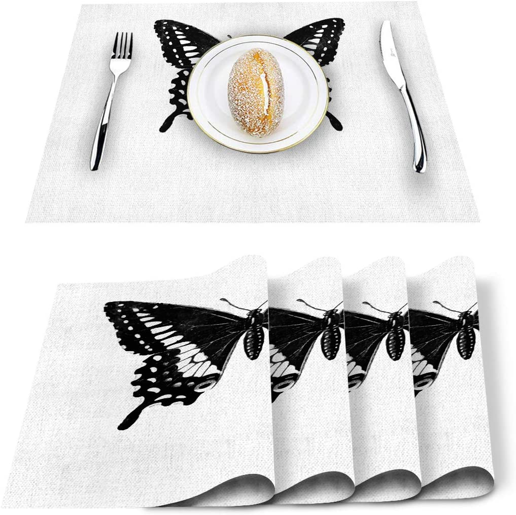 BABE MAPS 6 Pieces 12 x Butterfly Wa inch 18 Wipeable Placemats Super SEAL limited product intense SALE