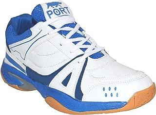 Port Men's Activa White Badminton Shoes