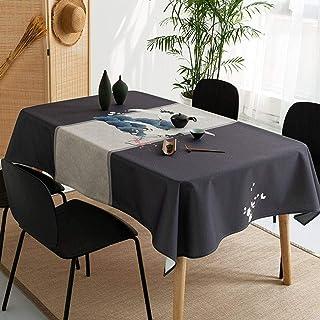 Rectangulaire Nappe, Style Japonais Anti Taches Nappe, Hôtel Tables Imperméable Anti-Poussière Coton Lin Protecteur, pour ...