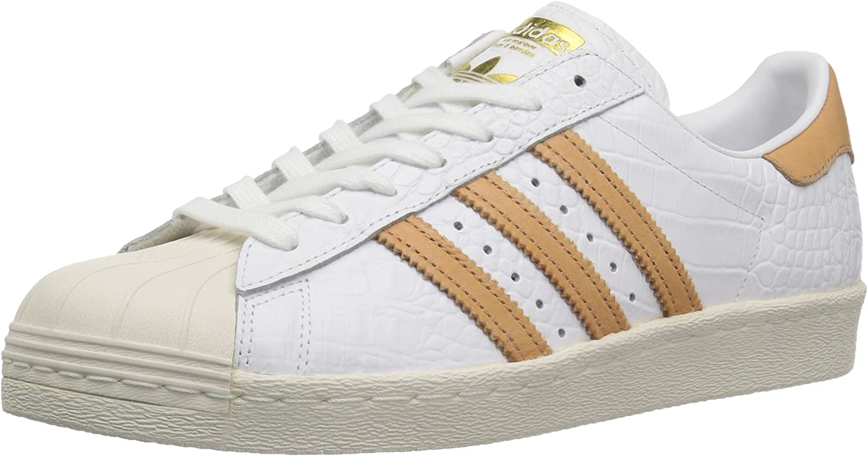 Adidas Originals Herren Superstar 80s ftwwht,Goldmt, 39.5 EU M