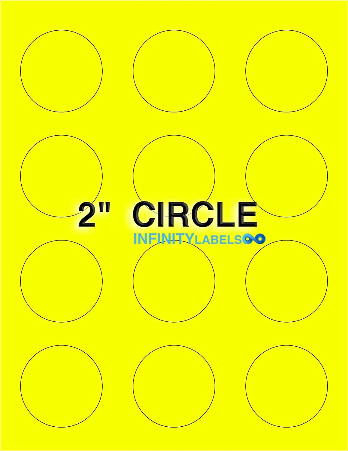 Bulk 300 Sheets Free Shipping New Fluorescent Yellow She Paper Laser 2in. Circle. Challenge the lowest price of Japan
