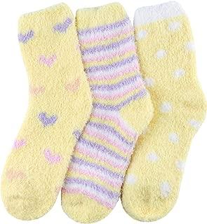 Premium Soft Warm Microfiber Fuzzy Socks 3-5 Pairs
