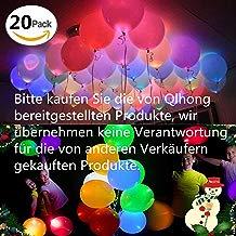 Globos LED Luz Colores para Fiesta Boda Fiesta Cumpleaños Navidad Reunión Ceremonia 20 Pcs