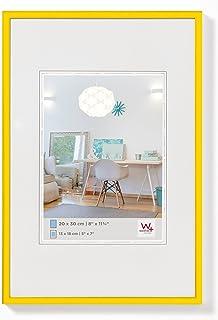 comprar comparacion walther design KV040I New Lifestyle, marco di plástico, 30x40 cm, amarillo, pack de 1