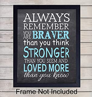 A A Milne, Quote Wall Art Print Typography - 8x10 Unframed Photo - Makes a Great Gift - Chic Home Decor - Motivational and Inspirational