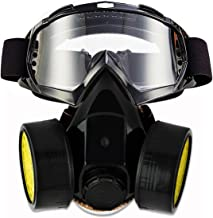 JOLIN Dual Anti-Dust Spray Paint Industrial Chemical Gas Respirator Mask & Glasses Set