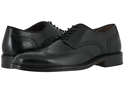 Johnston & Murphy Daley Wing Tip (Black Full Grain) Men