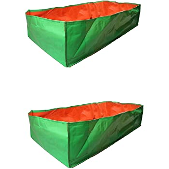 """YUVAGREEN Terrace Gardening Leafy Vegetable Green Grow Bag, 36"""" X 12"""" X 12"""" (Pack of 2)"""