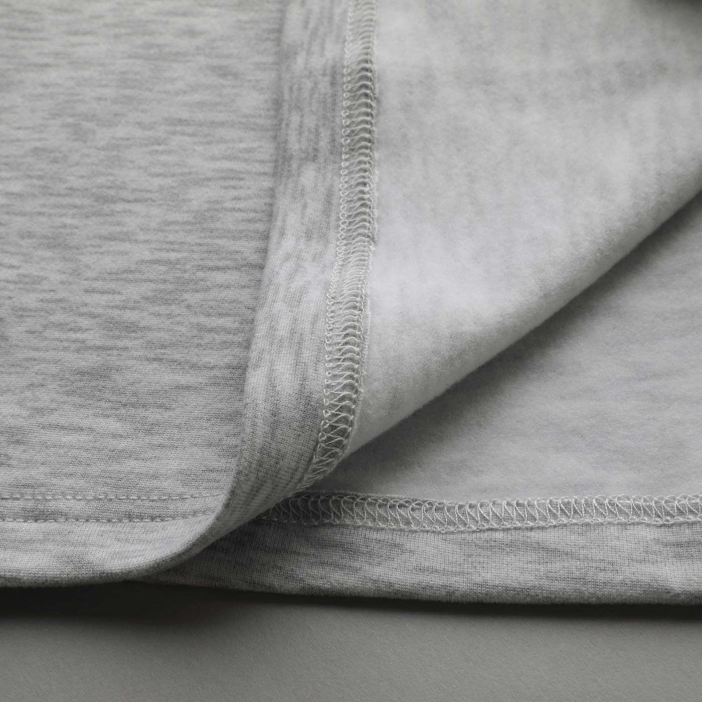 Mcilia Ultraweiches mit Fleece gefüttertes Thermo-Basisschicht Oberteil mit Langen Ärmeln für Frauen Grau