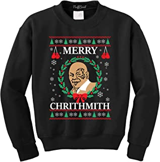 NuffSaid Merry Chrithmith Chirithmith Mike Tyson Ugly Christmas Sweater Unisex Sweatshirt