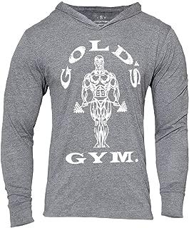Men's Bodybuilding Triblend Long-Sleeve Tapered Casual Sweatshirts Active Hoodies