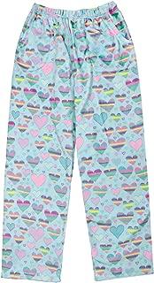iscream Big Girls Silky Soft Plush Fleece Pants - Love Fest Collection