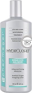Pharmagel Hydro2 Xy 10 مرطوب کننده Concentrate Lifting و Firming Concentrate لوسیون صورت و بدن AHA و BHA جذب سریع با اکسیژن پایدار - 12 فلو. اوز