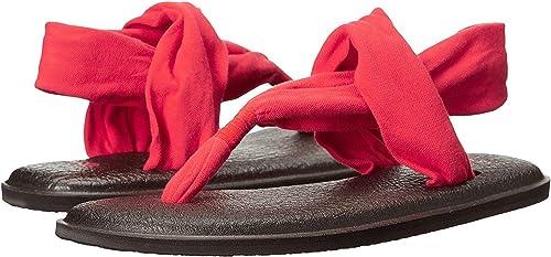 Sanuk Wohommes Yoga Sling 2 Flip Flop (7 B(M) US, Bright rouge)