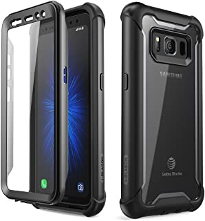 i-Blason Case for Galaxy S8 Active 2017 Release, [Ares] Full-body Rugged Clear Bumper Case with Built-in Screen Protector (Not Fit Regular Galaxy S8/S8 Plus) (Black)