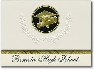 Signature Announcements Benicia High School (Benicia, CA) Graduation Announcements, Presidential style, Elite package of 2...