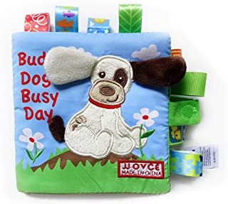 NUOLUX Baby Cloth Book Baby Intelligence Early Learning Educational Toys Book Baby Toy Gift (Dog)
