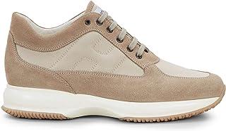 Hogan Sneakers Uomo Interactive Beige in Suede e Tessuto - HXM00N00E10 8O6C609 - Taglia