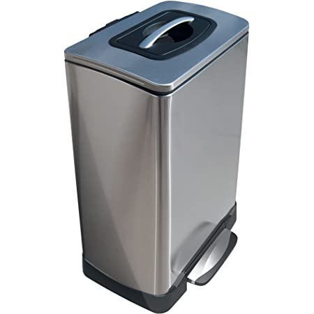 Amazon Com Household Essentials Trash Krusher Manual Trash Compactor 40 L Stainless Steel Home Kitchen